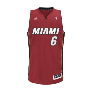 CAMISOLA ADIDAS - MIAMI HEAT #6 LEBRON JAMES